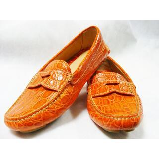プラダ(PRADA)のPRADAプラダクロコ型押レザー皮革ドライビングモカシンローファーシューズ靴(スリッポン/モカシン)