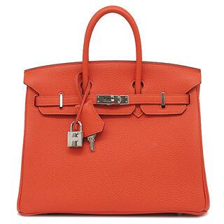 Hermes - エルメス  ハンドバッグ  バーキン25  T刻印 オレンジ
