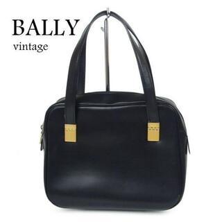 バリー(Bally)のバリー BALLY ヴィンテージ ロゴ レザー ハンド バッグ イタリア製(ハンドバッグ)