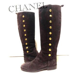 CHANEL - スェード ブーツ サイズ36 シャネル CHANEL 飾りボタン18個
