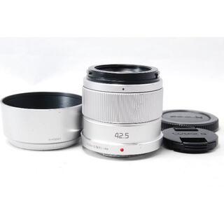 パナソニック(Panasonic)のPanasonic LUMIX 42.5mm F1.7 H-HS043 シルバー(レンズ(単焦点))
