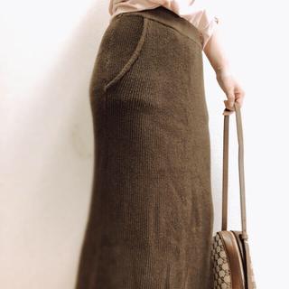 チャオパニックティピー(CIAOPANIC TYPY)のコットンニットタイトスカート(ロングスカート)