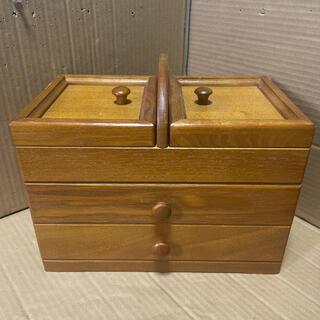 裁縫箱 木製 裁縫道具 収納 ソーイングボックス 小物入れ