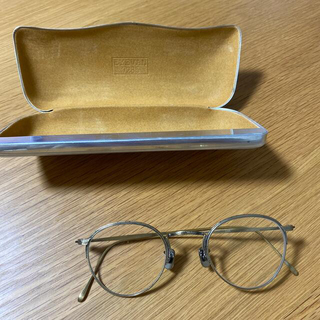BARNEYS NEW YORK - 【未使用】EYEVAN7285  ゴールドメタルフレーム 度なし眼鏡