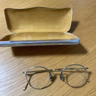 バーニーズニューヨーク(BARNEYS NEW YORK)の【未使用】EYEVAN7285  ゴールドメタルフレーム 度なし眼鏡(サングラス/メガネ)