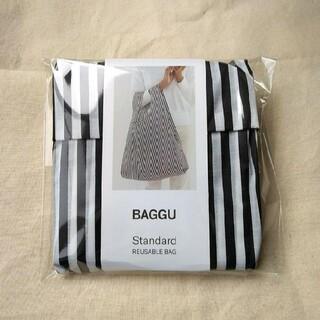 エディットフォールル(EDIT.FOR LULU)のストライプ ブラックホワイト 白黒 BAGGU baguu スタンダード バグー(エコバッグ)