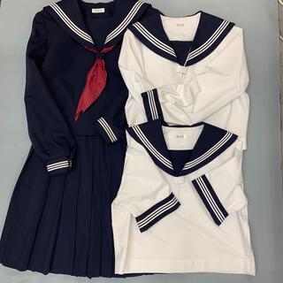 エル(ELLE)の学生服 セーラー服ELLE 濃紺×ホワイトライン 4点セット(衣装一式)