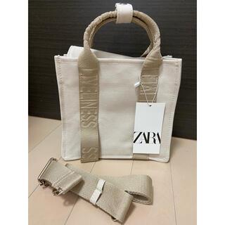 ザラ(ZARA)のZARA ロゴストラップ キャンバス ミニトートバッグ(トートバッグ)