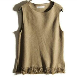プラージュ(Plage)のPlage linen top(カットソー(半袖/袖なし))