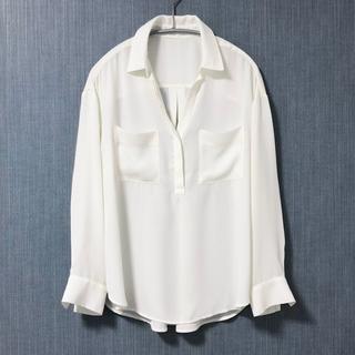ROPE - ROPÉ mademoiselle オフホワイト シフォンスキッパーシャツ