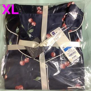 ジーユー(GU)のGU  パジャマ サテン ワンピース チェリー XL(パジャマ)