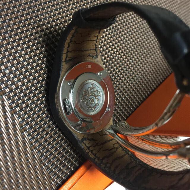 Hermes(エルメス)のエルメス   正規品 時計 アーネ 稼働品  黒 レディースのファッション小物(腕時計)の商品写真