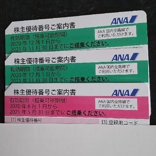 エーエヌエー(ゼンニッポンクウユ)(ANA(全日本空輸))の全日空株主優待券 3枚(その他)