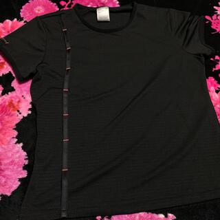 ナイキ(NIKE)のNIKE DRI-FIT ナイキ トップススポーツウェア黒ブラックMレディース(Tシャツ(半袖/袖なし))