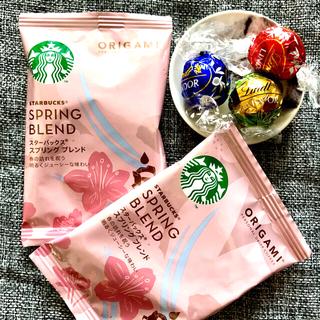 スターバックスコーヒー(Starbucks Coffee)のスタバ コーヒータイムセット ☆ スタバ オリガミブレンド & リンツチョコ①(コーヒー)