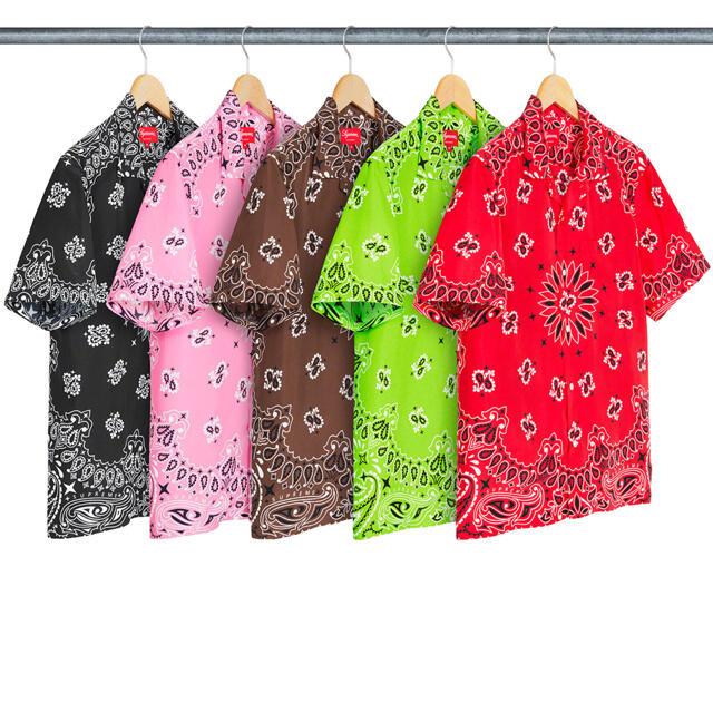 Supreme(シュプリーム)のSupreme Bandana Silk Shirt 茶色L今週まで メンズのトップス(Tシャツ/カットソー(半袖/袖なし))の商品写真