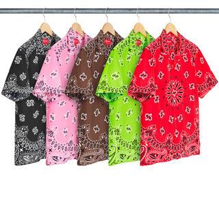 Supreme - Supreme Bandana Silk Shirt シュプリーム 茶色L