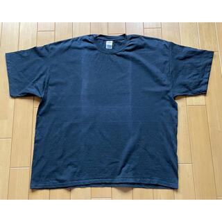 ギルダン Tシャツ 巨大4XL ブラック 日焼けあと(Tシャツ/カットソー(半袖/袖なし))
