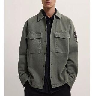 ザラ(ZARA)の104.パッチシャツジャケット(Gジャン/デニムジャケット)