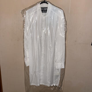 Yohji Yamamoto - yohjiyamamoto replicaタックシャツ(ロングシャツ)白/モード