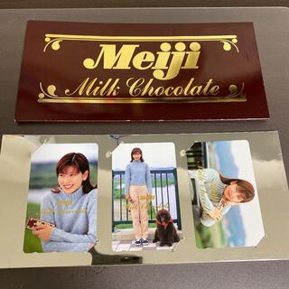メイジ(明治)の【希少】森高千里 Meiji ミルクチョコレート 未使用テレフォンカード レア(女性タレント)