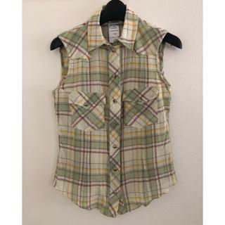 クロエ(Chloe)のChloe ノースリーブ チェックシャツ(シャツ/ブラウス(半袖/袖なし))