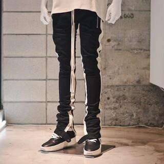 FEAR OF GOD - 正規品 納品書付属 フィアオブゴッド Sサイズ サイドライン パンツ 黒