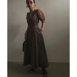 Ameri VINTAGE - SHEER PUFF SLEEVE DRESS Ameri vintage