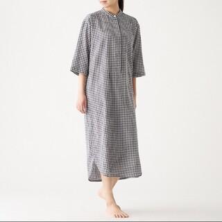 MUJI (無印良品) - インド綿 薄手ガーゼ 七分袖クルタ