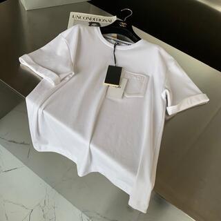 FENDI - FENDI 21SS 立体ロゴ コットン 半袖 Tシャツ *ホワイト