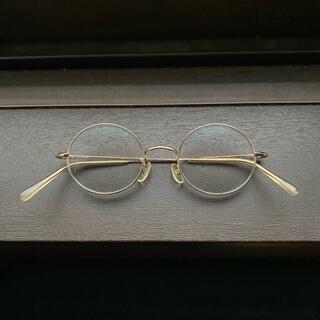 白山眼鏡 白山眼鏡店 TITAN ROUND 丸眼鏡  ゴールド