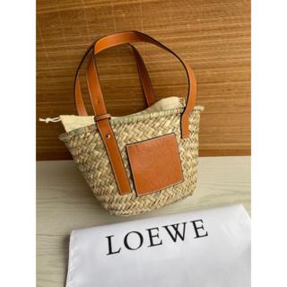 LOEWE - LOEWEロエベ バスケットカゴバッグ スモール タン