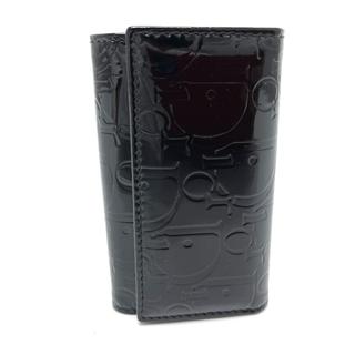クリスチャンディオール(Christian Dior)のクリスチャンディオール トロッター ロゴ型押し キーケース ブラック(キーケース)
