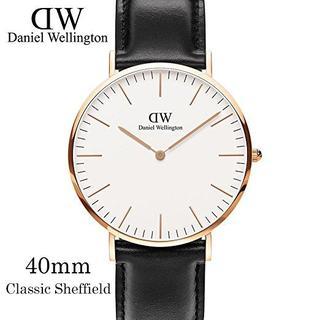 ダニエルウェリントン(Daniel Wellington)のDanielWellington40mm0107DWピンクゴールド×ブラック(腕時計(アナログ))