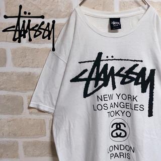 STUSSY - stussy ステューシー Tシャツ 半袖 ワールドツアー 白T