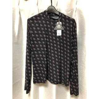 ジーユー(GU)のGU kappa  シアーインナーT 長袖 新品 ブラック 超大型店限定(Tシャツ(長袖/七分))