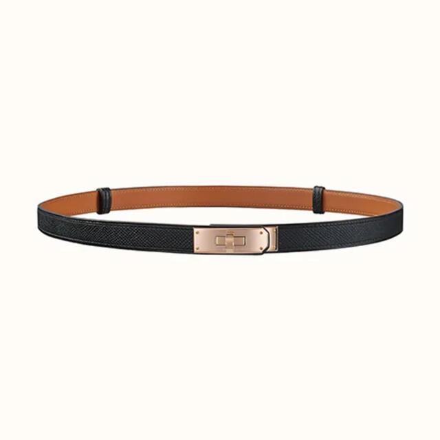 Hermes(エルメス)のエルメスケリーベルト ブラック レディースのファッション小物(ベルト)の商品写真