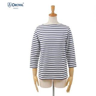 オーシバル(ORCIVAL)のオーシバル 七分袖 Tシャツ ネイビー(Tシャツ(長袖/七分))