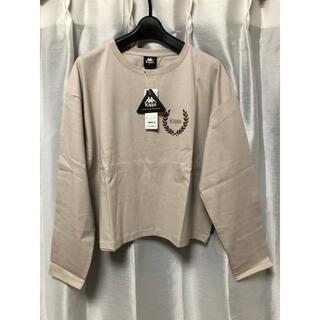 ジーユー(GU)のGU kappa クロップドロングスリーブT 長袖 L 新品(Tシャツ(長袖/七分))