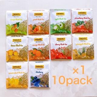Heladiv 10P 紅茶 フレーバー アソート ティーバッグ 食品 果物(茶)