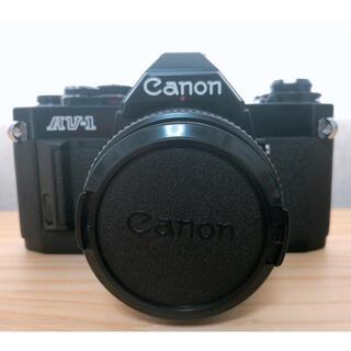Canon - キヤノン CANON AV-1 フィルムカメラ レンズ付き・動作確認済み 極美品