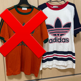 アディダス(adidas)のadidas ティシャツ 80年代 トレフォイルロゴ後期(Tシャツ/カットソー(半袖/袖なし))