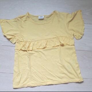 ザラ(ZARA)の【ZARA】Tシャツ イエロー 122㎝(Tシャツ/カットソー)