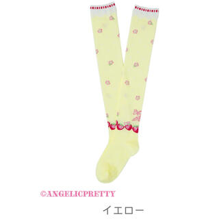アンジェリックプリティー(Angelic Pretty)のLittle Bunny Strawberryオーバーニー(靴下/タイツ)