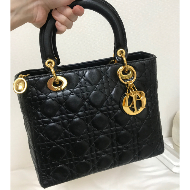 Christian Dior(クリスチャンディオール)のDior レディディオール ラムスキンレザーハンドバッグ☆ レディースのバッグ(ハンドバッグ)の商品写真