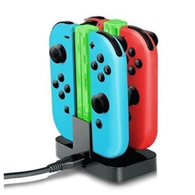 任天堂スイッチ 充電器スタンド ジョイコン コントローラー充電 エンタメ/ホビーのゲームソフト/ゲーム機本体(その他)の商品写真