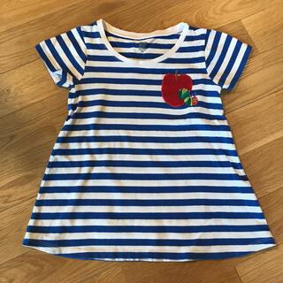 グラニフ(Design Tshirts Store graniph)のグラニフ ボーダーチュニックワンピース はらぺこあおむし ベビー90(ワンピース)