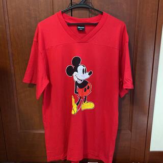 マウジー(moussy)のmoussy Tシャツ ミッキー Disney ビッグシルエット チュニック(Tシャツ(半袖/袖なし))