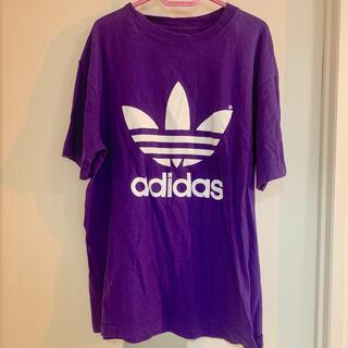 アディダス(adidas)のアディダスオリジナル Tシャツ 紫 パープル 古着 オーバーサイズ adidas(Tシャツ/カットソー(半袖/袖なし))
