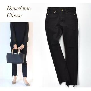 DEUXIEME CLASSE - Deuxieme Classe  美シルエット カットオフ ブラックスキニー